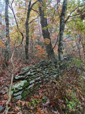 Remnants of folks who farmed this rugged land still appear along the trail