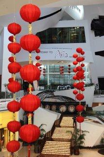 more Chinese lanterns at Aria