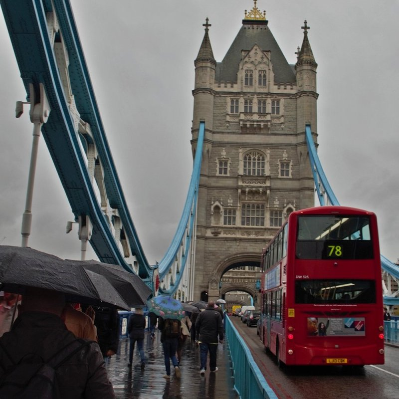 Such a classic rainy-day London shot
