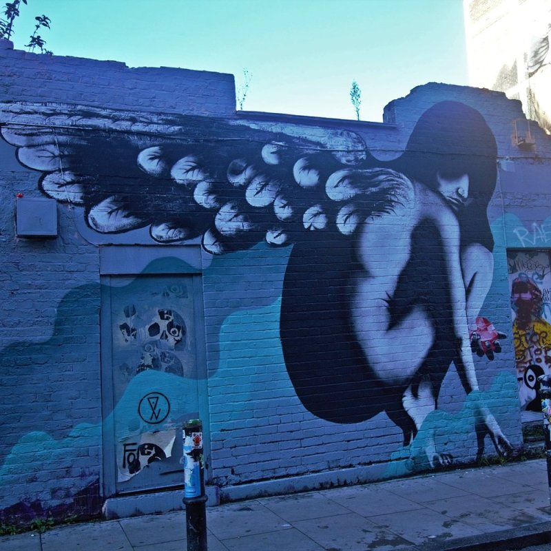Winged beauty in Shoreditch