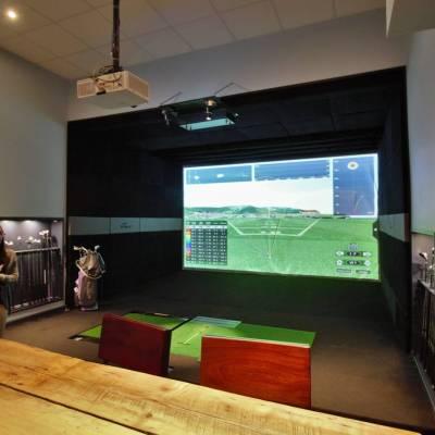 Golf Simulator in the gym area