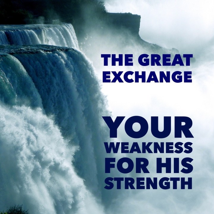 You weakness for his strength