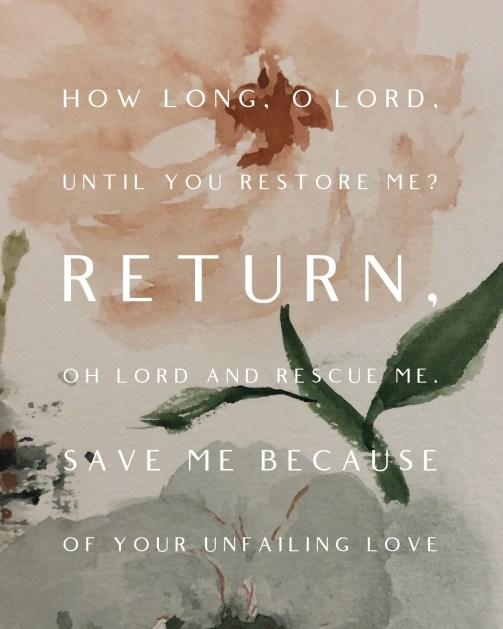 Return, restore