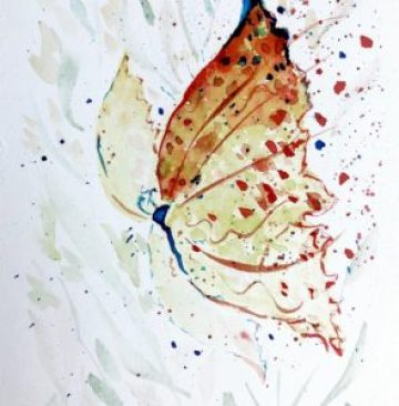 Example of my art, watercolor butterfly