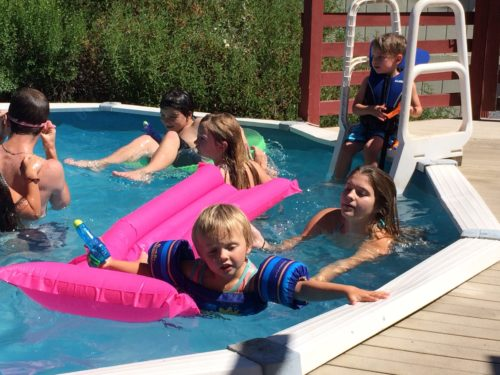 Swimming at Camp Grandma July 2016
