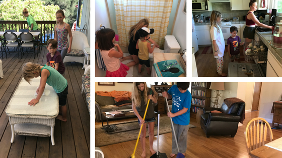 Camp Grandma Chores on a Camp Grandma post by Susan Gaddis.
