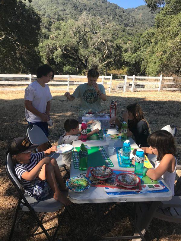 Camp Grandma 2018 craft table
