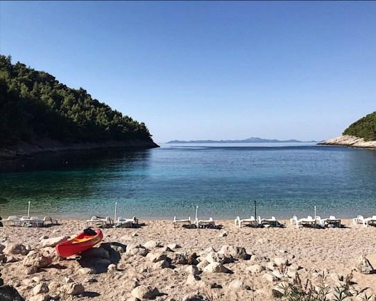Facing fear on Pupnatska Luka - a Korcula, Croatian beach