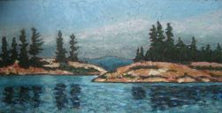 """North Channel #2, acrylic on texturized canvas, 24"""" x 48"""", 2009"""