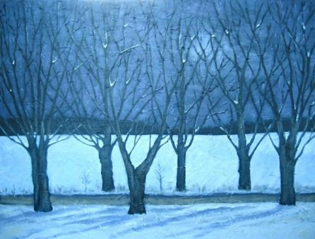 """Winter Storm Approaching, acrylic on canvas, 30"""" x 40"""", 2008"""