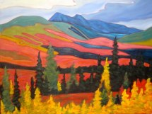"Yukon Magesty 1, acrylic on texturized canvas, 30"" x 40"" SOLD"
