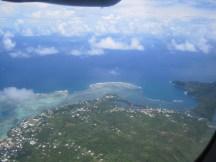 Leaving Samoa, from the plane