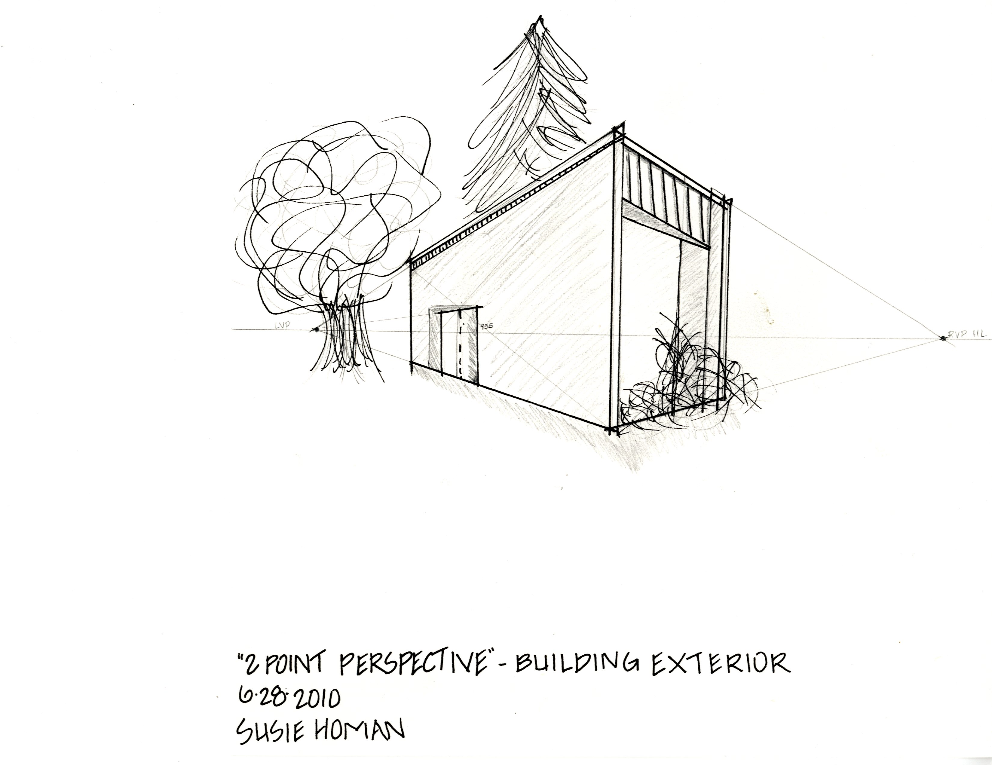 2 Point Perspective – Building Exterior