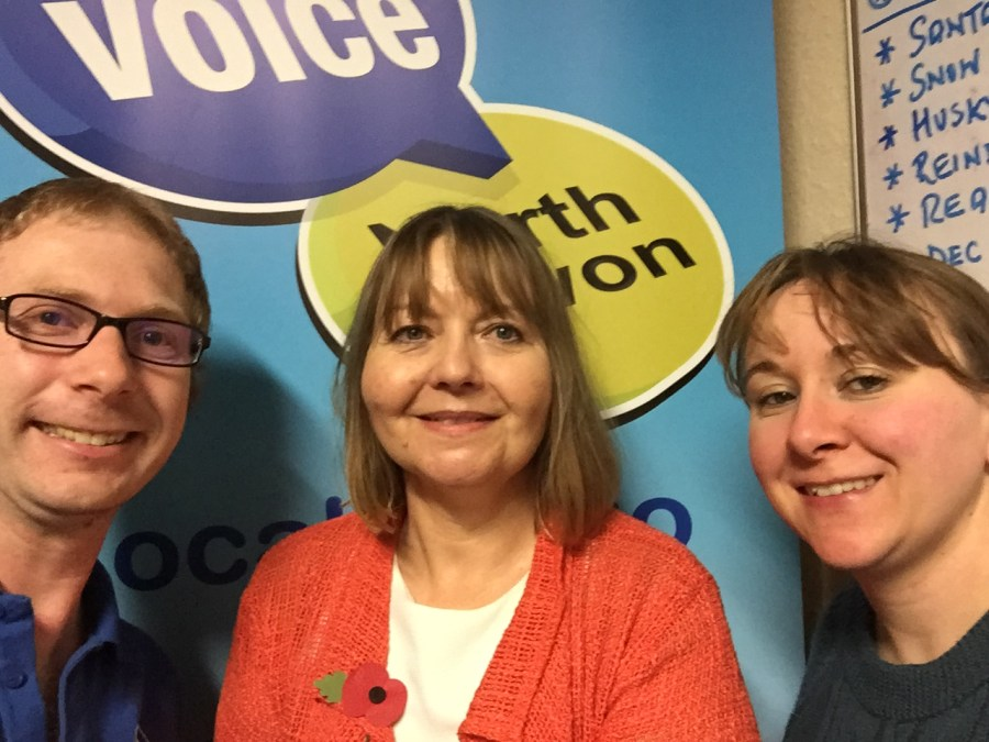 Photo of author Susan Hughes on The Voice FM