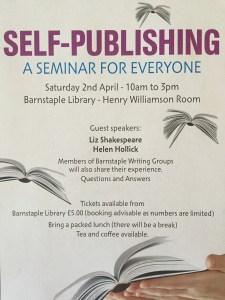 poster for self-publishing workshop