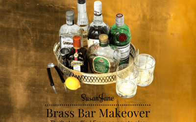 Thrift Store Flip: Brass Tray Becomes Glamorous Bar