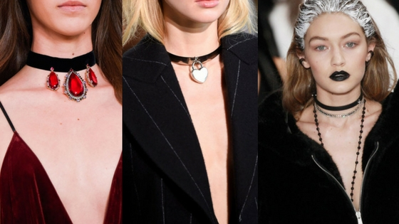 jewelry trends fall 2016 chokers velvet chokers mixed layered necklaces