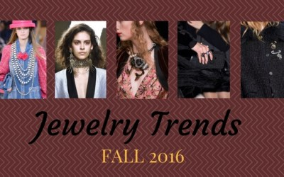 Jewelry Trends Fall 2016:  Chokers, Earrings, Brooches and More
