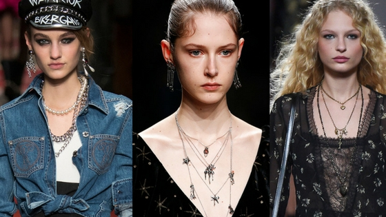 fall jewelry trends 2016 chains pearls charms layered neckaces