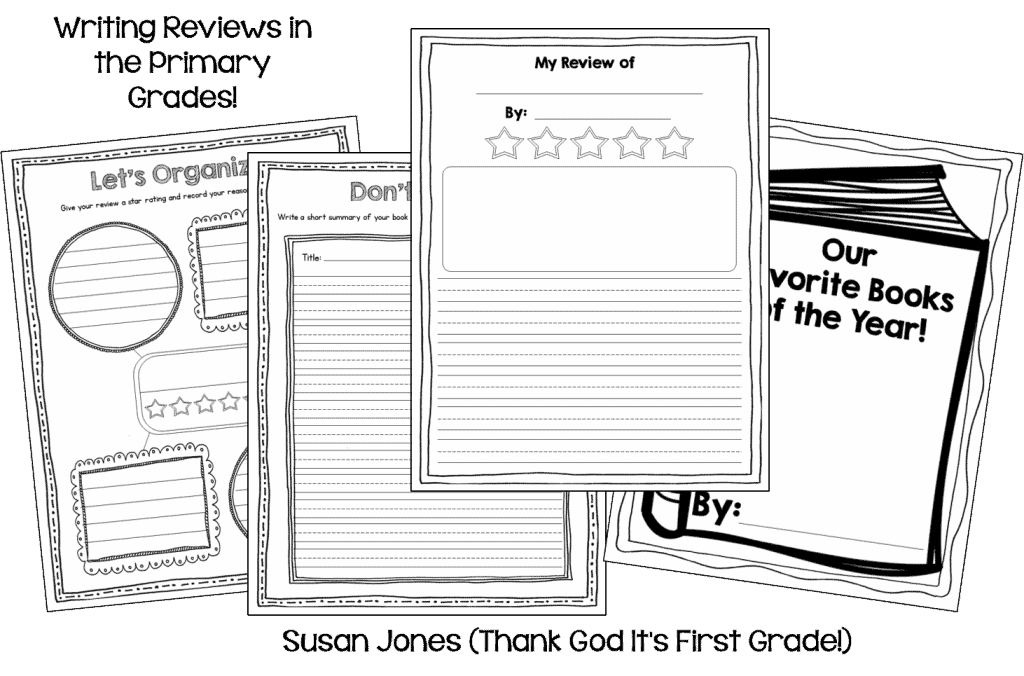 Writing Reviews in 1st or 2nd Grade: Opinion Writing Fun