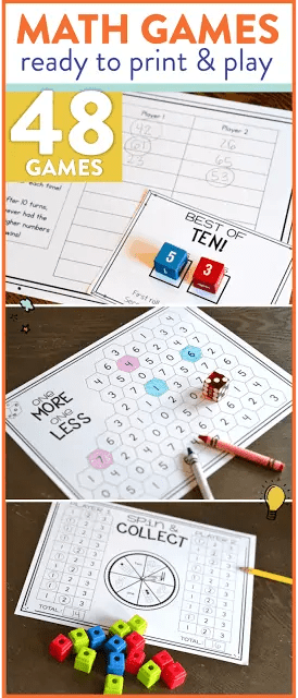 First Grade Math Games for the Whole Year - Susan Jones Teaching