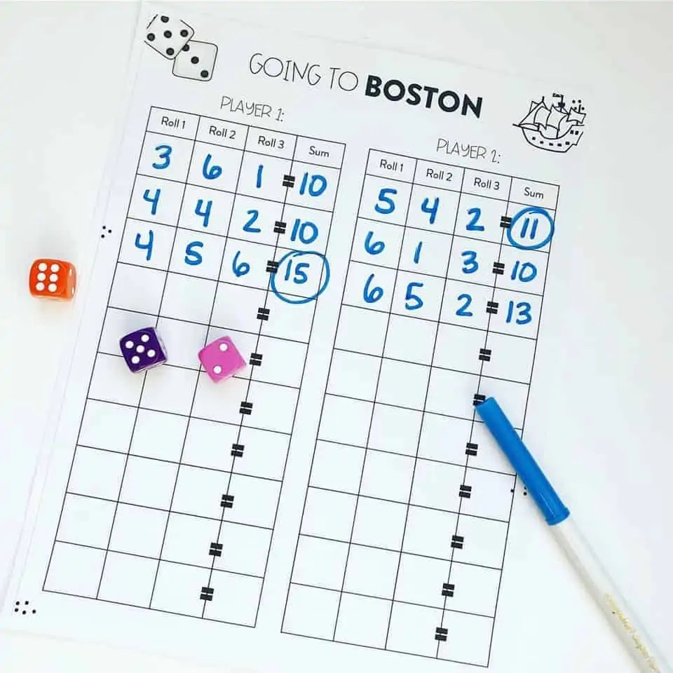 medium resolution of Addition Dice Games for 1st and 2nd Grade! - Susan Jones