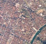 Turin, historic center. Source: Wikimedia Commons / NASA / public domain