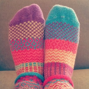 Silly socks are cozy and are one way to let hygge into your life.