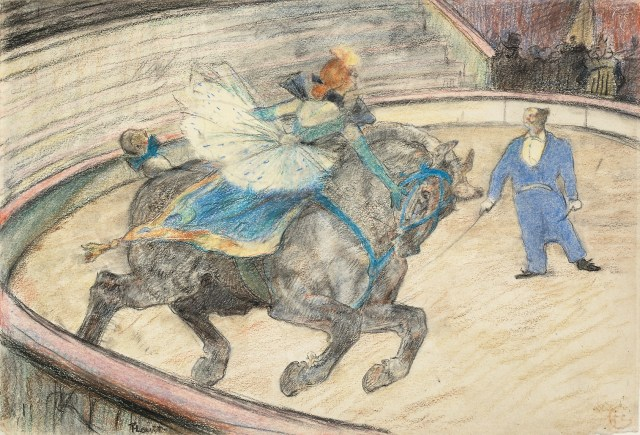 At the Circus: Work in the Ring (1899) Toulouse-Lautrec