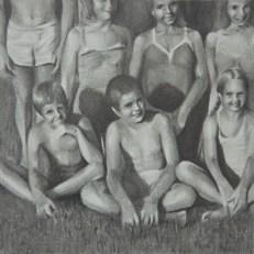 Susannah Douglas, Team (fragment 3), pencil and ink on paper, 8cm x 8cm, 2015