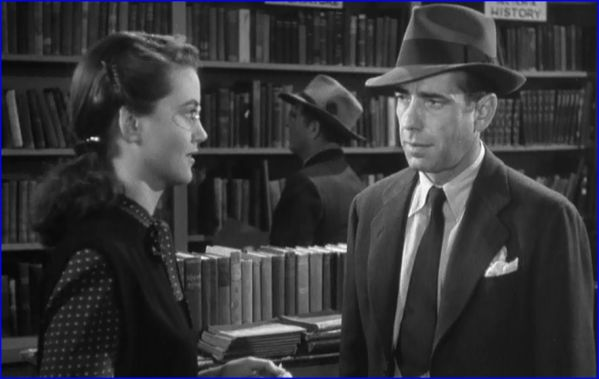 Dorothy Malone, Humphrey Bogart in The Big Sleep