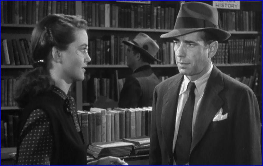 Dorothy Malone, Humphrey Bogart in The Big Sleep