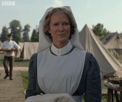 Hermione Norris in The Crimson Field (BBC1)