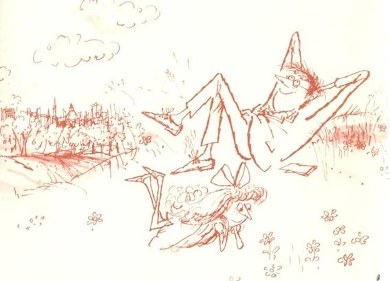 Exploring London, illustration Ronald Searle
