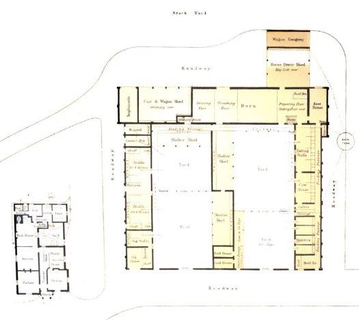 Farm and farmhouse plan
