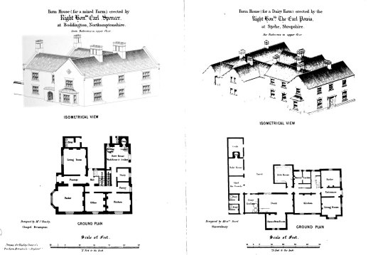 A farm house, or bailiff's house, on a home farm of 227 acres, erected by Matthew Bell, Esq., at Lenhall Farm, near Canterbury, Kent, designed by the Editor.