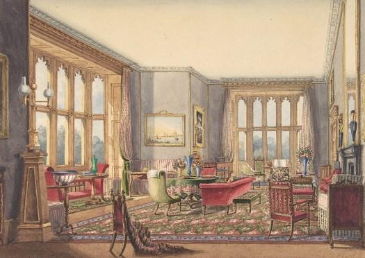 Drawing Room, Guys Cliffe, Warwickshire.