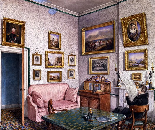 General Norcliffe in his study at Langton Hall. Mary Ellen Best.