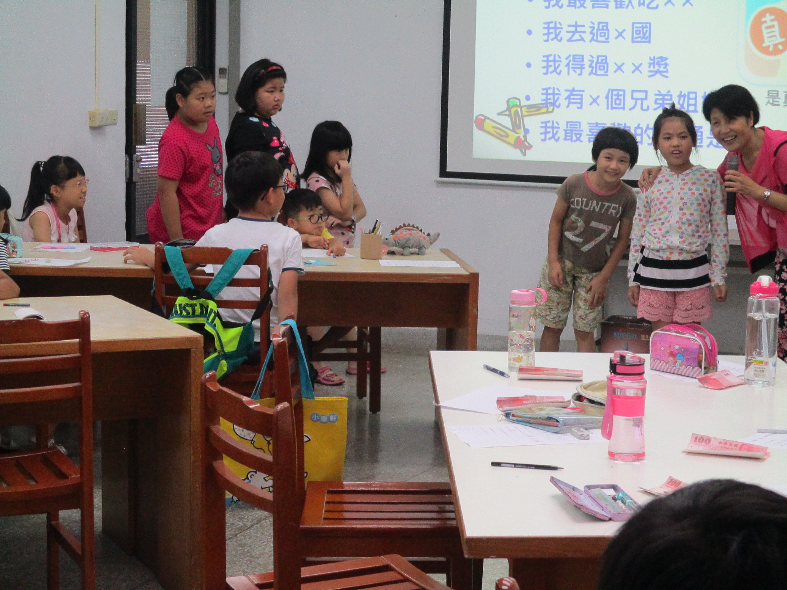 兒童口才夏令營1(萬里&三芝圖書館107.7.2 - 彭瑞蘭口才訓練課程表達溝通全互動教學專家