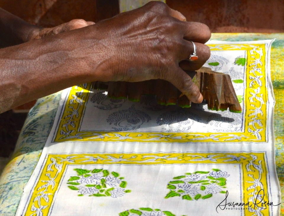 6.Blockprinting at Anokhi museum in Amber.