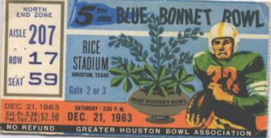 Image result for 1963 bluebonnet bowl