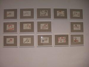 Hängung der Zeichnungen von Susanne Haun
