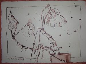 Die vergessene Blume - Zeichnung von Susanne Haun