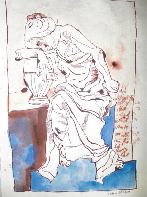 Der französische Friedhof Berlin, Zeichnung von Susanne Haun