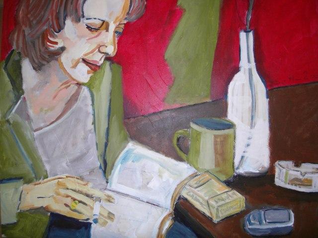 Portrait Claudia - Leinwand von Susanne Haun