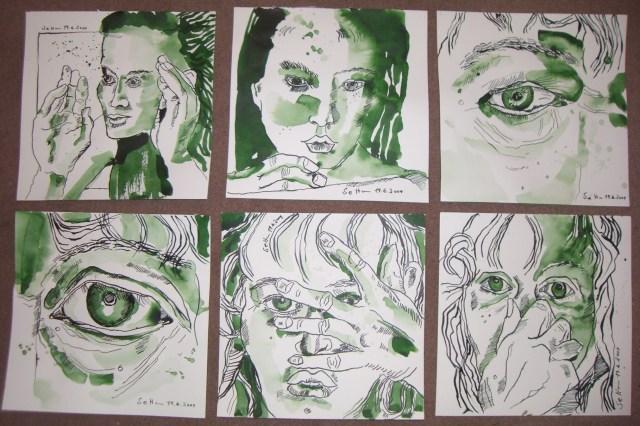 Lotusgrüne Tusch und ich - Zeichnungen von Susanne Haun