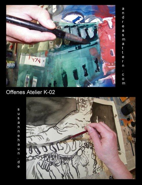 Einladung offenes Atelier K-02 Susanne Haun und Andreas Mattern