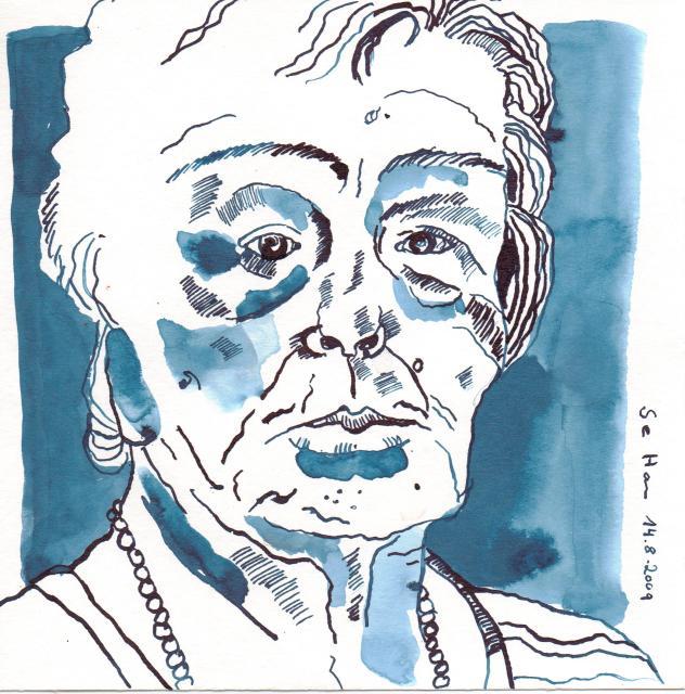 Tante Rose - Zeichnung von Susanne Haun