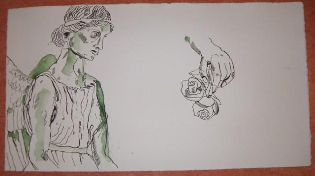 Engelsstudie - Zeichnung von Susanne Haun