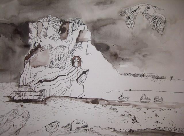 """""""Trauminsel"""" - Zeichnung von Susanne Haun"""